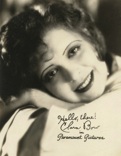 Hello, there! Clara Bow promo postcard for Paramount Pictures  (and now I am off into the day! It's hot here! queue on! xo xo)
