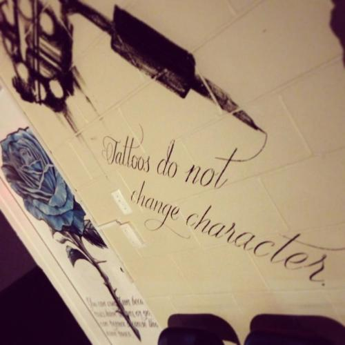 "bunnyfluffs:  ""Tattoos do not change character "" ~from Under the Rose inc tattoo parlour"