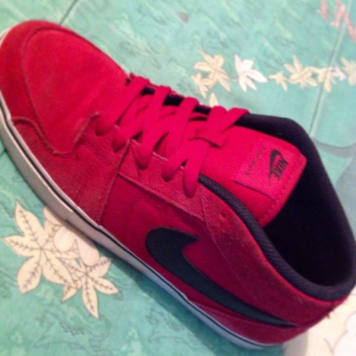 #Nike Ruckus Mid  #Shoes #Red #Skate #Skateboard
