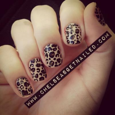 Took a break from all the crazy nail designs and kept it simple with leopard print…it's one of my favorites!