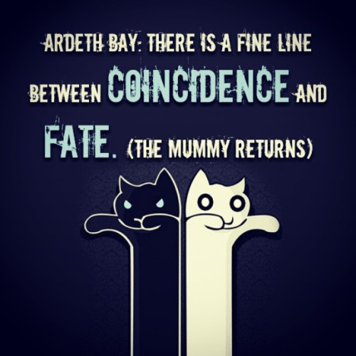 Between #coincidence and #fate