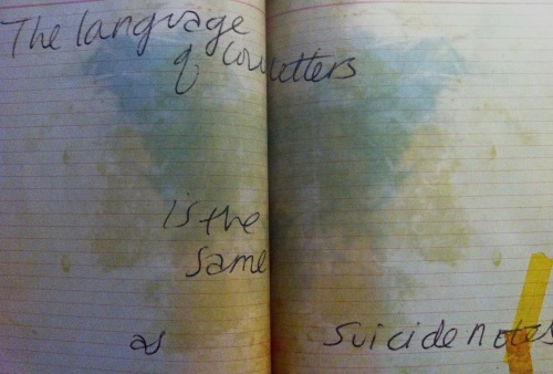 "ghostofyesterday:   ""The language of love letters is the same as suicide notes.""  From ""Dirty Blonde: The Diaries of Courtney Love"" (2006)"