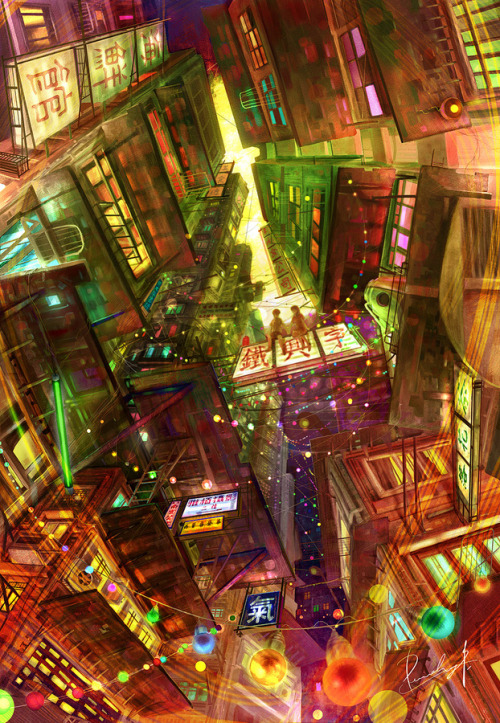 vlynx:  The light of Kowloon City by purehay