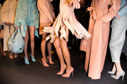 glamour:  Blush tones at Blumarine. Photo: Mark Leibowitz