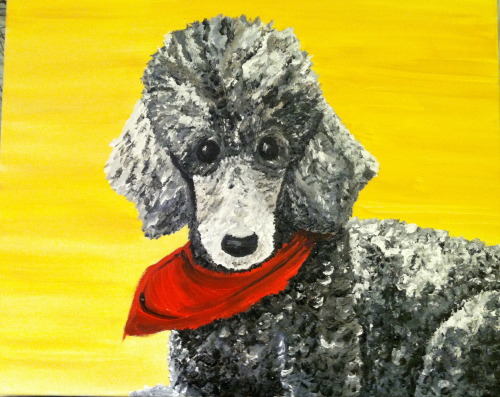 Painting of my friends' dog, Gilleyweed R.I.P <3