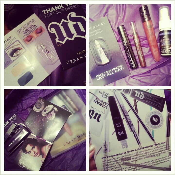 My urban decay package that came yesterday :)