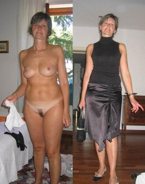 фото одетых и раздетых женщин в возрасте