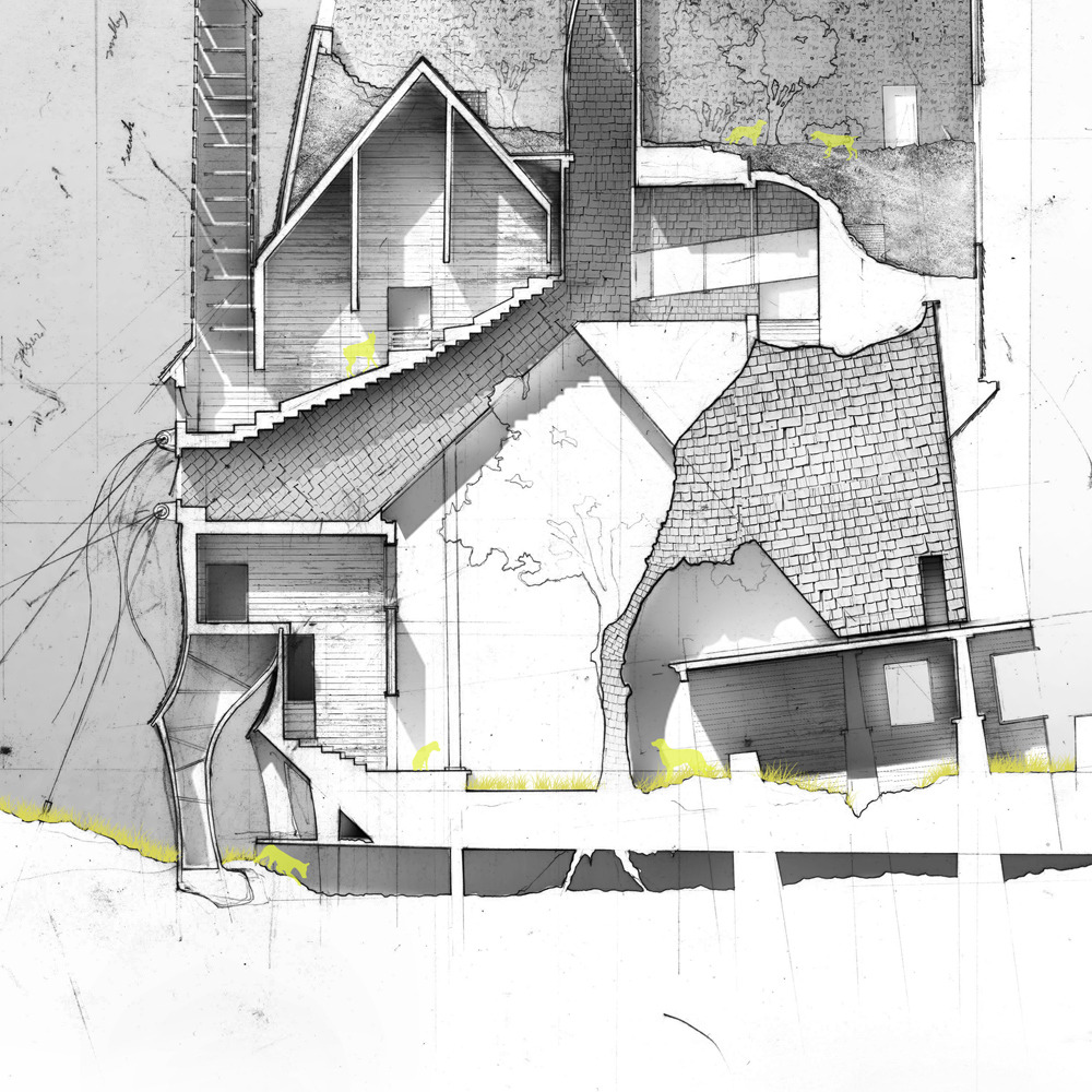 Designer curator brother a tactic of survival andy for Architecture house drawing