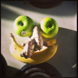 #fruit #face  (at hot tub house )
