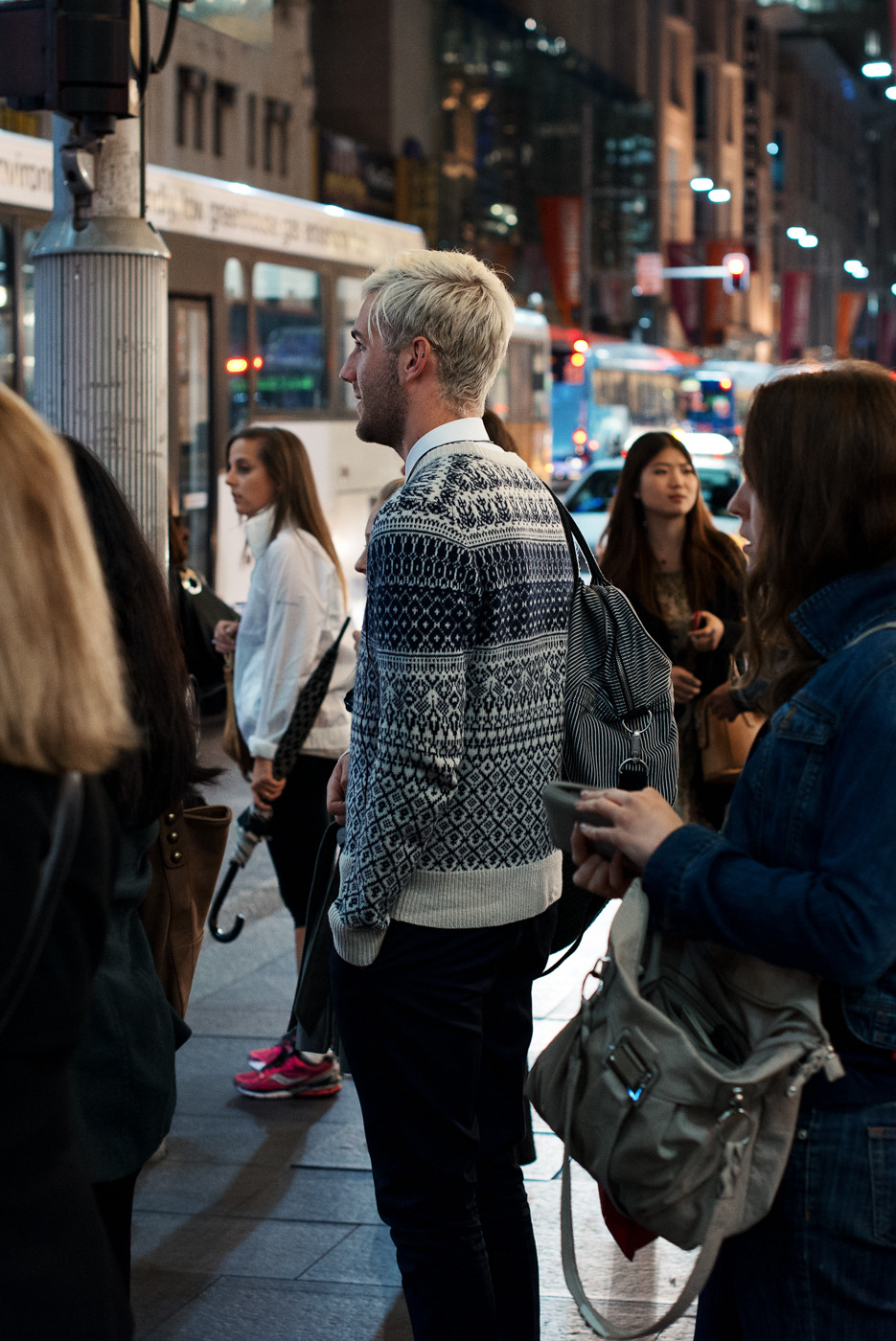 Cooler nights ahead. Similar look: Jack Spade Fair Isle Sweater.