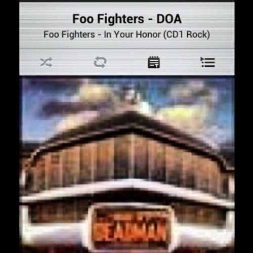 Its a shame we have to disappear #DOA #inyourhonor #Foofighters #mysongnow #riseandgrind #schoolwork #davegrohl