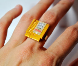 laughingsquid:  Miniature NES Video Game Cartridge Rings