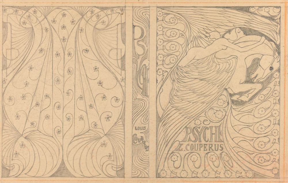 slowlyeden:  Louis Couperus book covers by Jan Toorop, via The Rijksmuseum