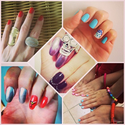 Mani Monday Madness!!! #nails #fun #trends #style #girls #glitter