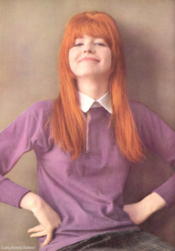 British Beauty Circa April 1964 - Jane Asher, 18, photographed by David Bailey for UK Vogue's September 15, 1964 issue (also published in the August 1, 1964 issue of American Vogue) as one of the British Beauties influencing good looks around the world. Source of scan: Lady Jane group at Yahoo!