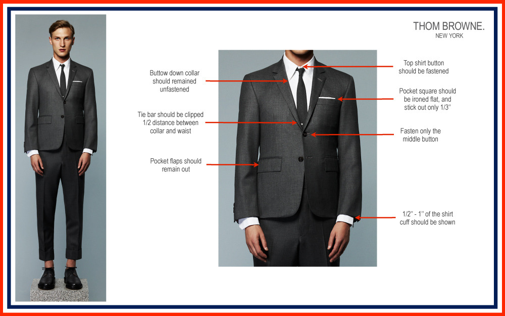 youmightfindyourself:  howtotalktogirlsatparties: Thom Browne's guide to wearing Thom Browne like Thom Browne.  can you say control freak :D i dig it.