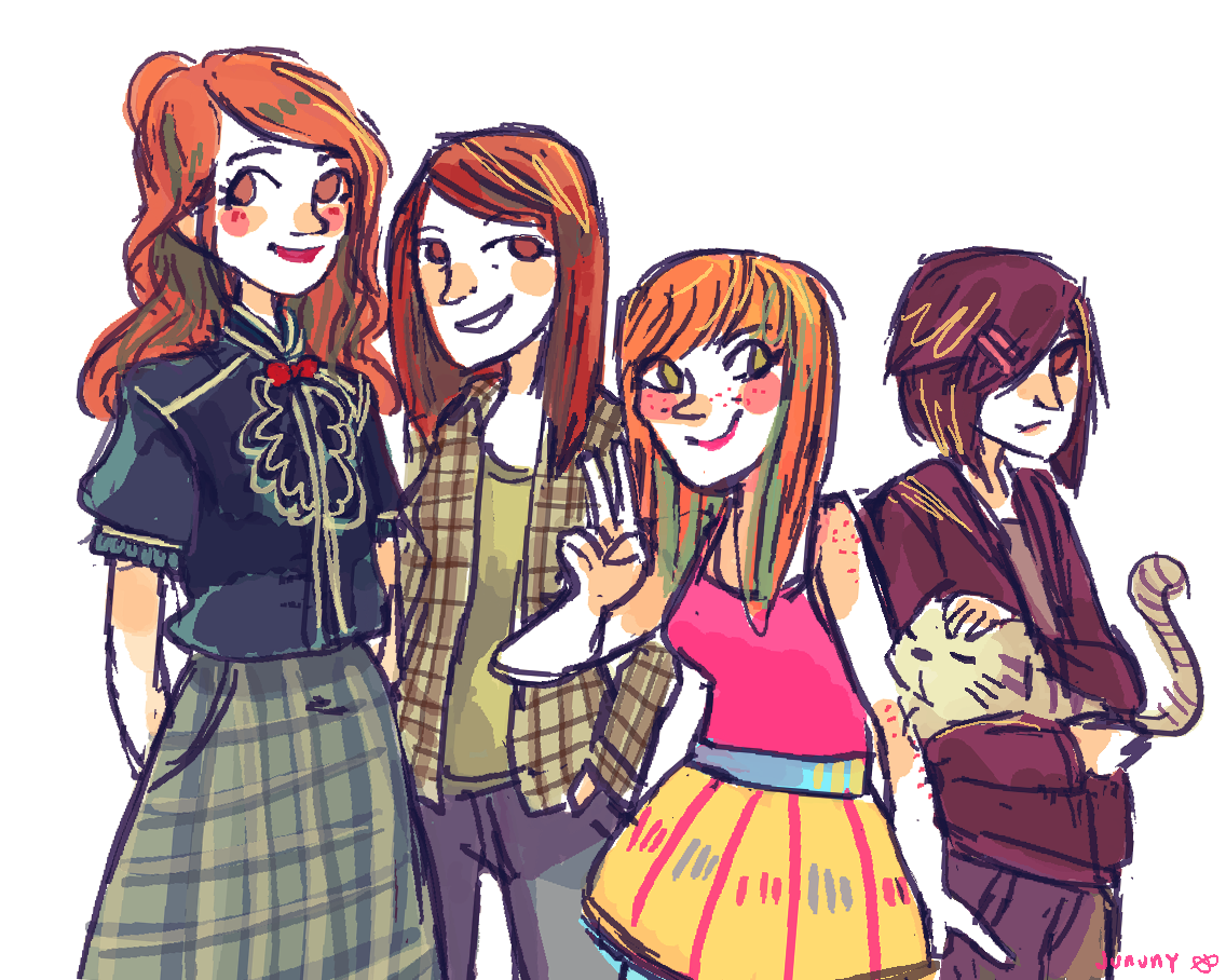 theashleyclements:  jununy:  lizzie bennet diaries! pls give me all of janes outfits thank u  The Bennets!