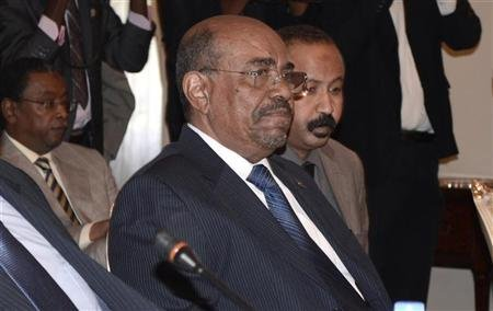 PICTURED ABOVE: Sudan's President Omar Hassan al-Bashir attends a meeting with leaders from South Sudan at the National Palace in the Ethiopian capital Addis Ababa January 5, 2013.   Sudan, Darfur rebels sign ceasefire in Qatar  The Sudanese government signed a Qatar-sponsored ceasefire with a splinter Darfur rebel group, Sudanese and Qatari state media said, in an attempt to revive a stalled peace process to end a decade-long conflict. The deal was signed by a group that calls itself the Justice and Equality Movement (JEM) but which is a tiny off-shoot of the main rebel group of that name. News of Sunday's agreement follows a recent upsurge in fighting in Darfur, a region the size of Spain where rights groups and the United Nations say 300,000 people may have died since the conflict began in 2003. The government says the death toll is about 10,000. Qatar brokered a 2011 peace deal between Sudan and the small Liberation and Justice Movement (LJM), and hopes the latest accord will inject new life into peace efforts. The 2011 deal promises development aid from donors including Qatar, which will host an April 7-8 donor conference, Qatari Deputy Prime Minister Ahmed bin Abdullah al-Mahmoud told the official Qatar News Agency. Qatar hopes the forum will persuade more rebels to join the peace process and choke off support for groups who refuse to lay down their weapons. A surge in fighting between rebels and government soldiers, as well as between the region's various tribes, has displaced more than 130,000 civilians since late December, according to the United Nations. More than 1.4 million people already live in camps across Darfur, according to the U.N. Diplomats say Western donors will only contribute funds in Doha if security improves in Darfur and if Sudan fulfils its part of the 2011 deal such as co-funding an authority to run the region and disarming pro-government militias. The International Criminal Court has issued arrest warrants for President Omar Hassan al-Bashir and other senior Sudanese officials on charges of war crimes and genocide in Darfur - accusations the Sudan dismiss as politically motivated. Conflict also stalks Sudan's border with South Sudan, the territory that seceded from the north under a 2011 peace deal that ended decades of civil war in the giant African state. The two neighbors came close to a return to full-scale war over territory and oil payments when border fighting escalated in April, but they agreed to defuse tensions in September. On Monday, Sudan released five South Sudanese soldiers it captured last year along their disputed border, the International Committee of the Red Cross (ICRC) said. Both sides have accused the other of holding an unspecified number of prisoners.