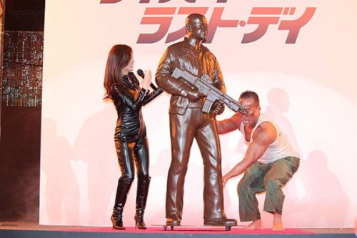 Life Sized Chocolate Bruce Willis in Celebration of New Die Hard Yipee-ki-yay, mother truffle.