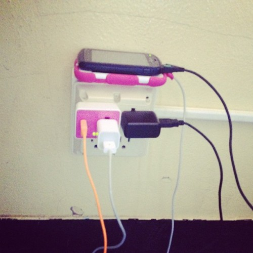 Lol me & Jackie's electronics 👌😊 #charge #funny #health #chillin