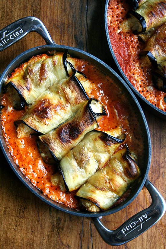 Eggplant Involtini via Alexandra's Kitchen