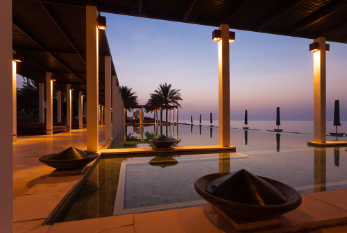 Swimming pool at The Chedi Hotel. Muscat, Oman.
