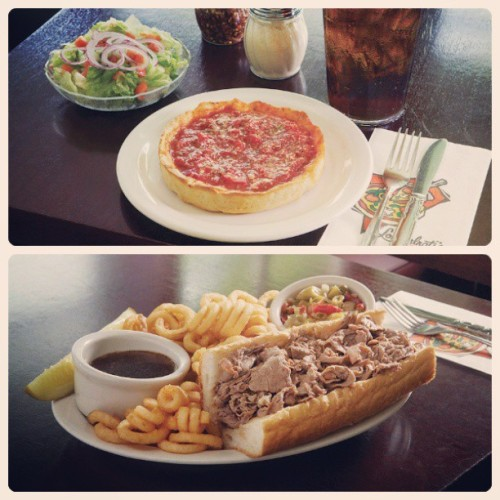 Would you rather have #deepdish or #italianbeef for #lunch today?