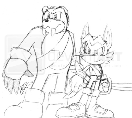 After the release of the future sonic covers: http://www.bumbleking.com/forum/viewtopic.php?f=4&t=6907 I had to give these two guys a try! :D I will redraw them when they release a much bigger and clearer picture. >w<