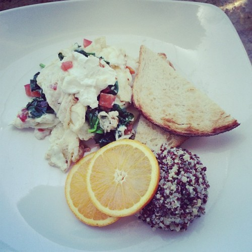 Egg whites and quinoa! #food #foodpron #brunch  (at The Glass Door)