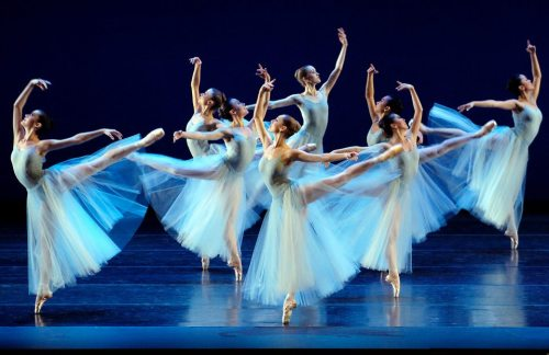 rose—adagio:  Boston Ballet in George Balanchine's Serenade