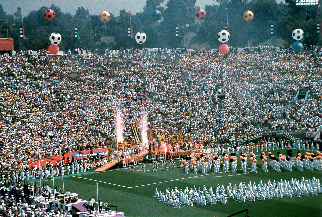 futbolintellect:  The Rose Bowl in Los Angeles, during the World Cup 94 Closing Ceremony.