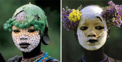 milktree:  Mursi and Surma girls from Natural Fashion: Tribal Decoration from Africa By Hans Silvester