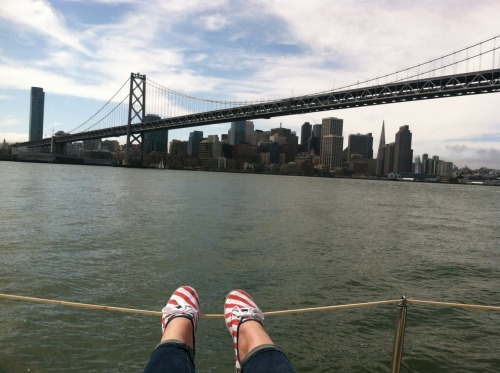 Tabbys shoes, bay bridge, my ankles. Wishing I was here (again) right now.