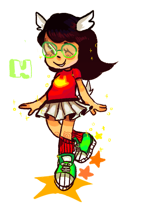 This was like my Dave phase where i would only draw Dave. Now it's Jade