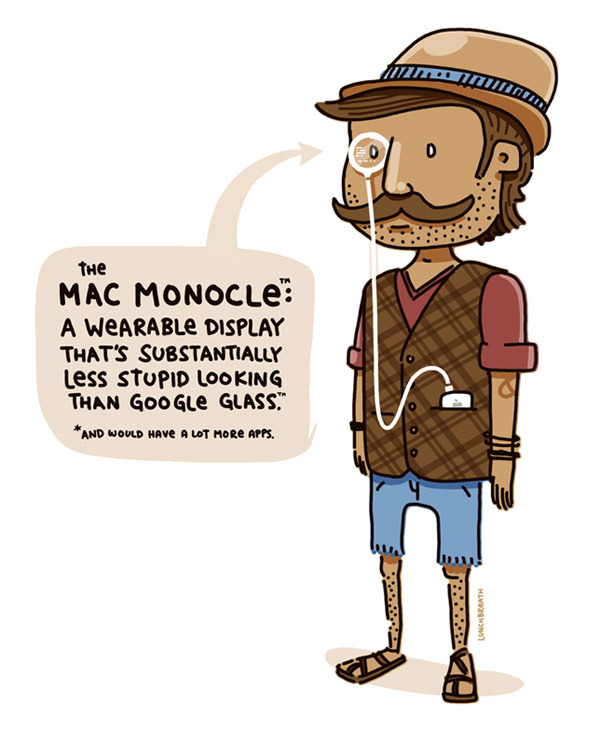 The Mac Monocle Sorry Google Glass. (vía Times New Geek)