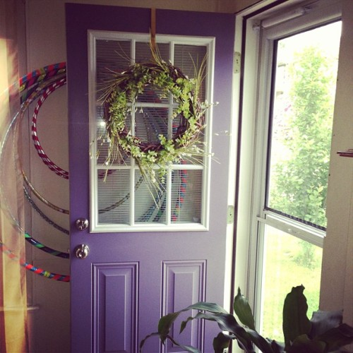 Day 21. #ckpc #door I painted my front door purple and just love it. The color makes me happy!