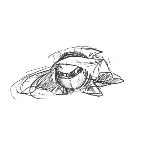 I doodled Meta Knight for my little sister.