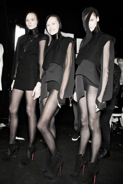 Mugler Fall 2012 Paris Fashion Week Backstage