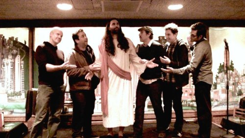 Comedy Last Supper featuring Jason Wheeler, Conor Kellicutt, Jesus (Matt Gubser), Keith Lowell Jensen, Trevor Hill and Ivan Hernandez by Danielle Mandella