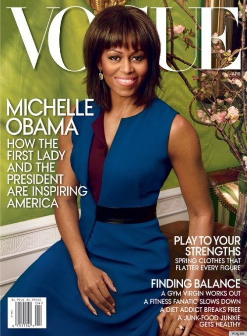 obamafamily:  Michelle Obama's Vogue Cover For April  <3