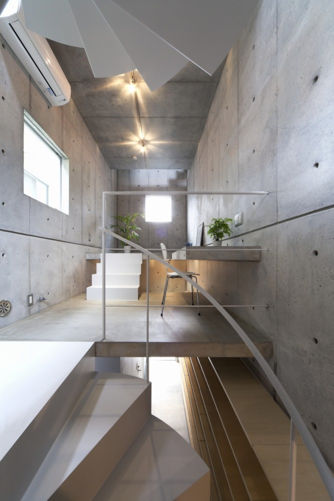 Well done integrated concrete desk.