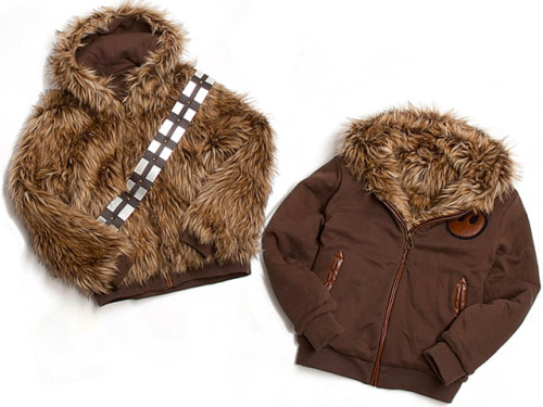 laughingsquid:  Furry Star Wars Chewbacca Jacket by Marc Ecko  Love. When we were growing up, there were 4 of us, me, my brother and our friends, also brother and sister. The sister was a year older than I. So, when we would play Star Wars, guess who I would always end up being? Yep. The big Wookie. Guess who looks cool now? I would like this anyway. But that makes it better.