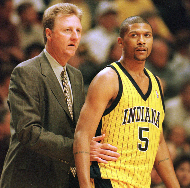 Happy 40th birthday Jalen Rose. The ESPN analyst, seen here in 1999, played 13 seasons in the NBA for six different teams. (AP) IN FOCUS: Jalen Rose at 40