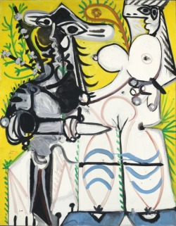 What the fuck Picasso. ~ Pablo Picasso Man and Woman, 1969