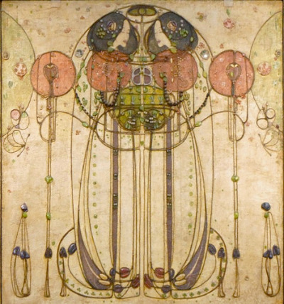 hoodoothatvoodoo:  Charles Rennie Mackintosh 'The Wassail' 1900