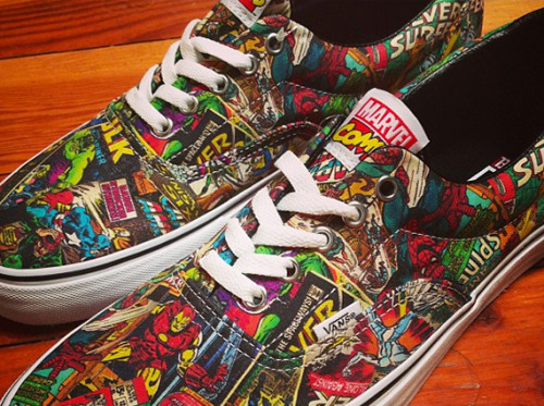 Marvel Comics x Vans Era the classic Vans Era done up with tons of Marvel heroes.  stay tuned for more info