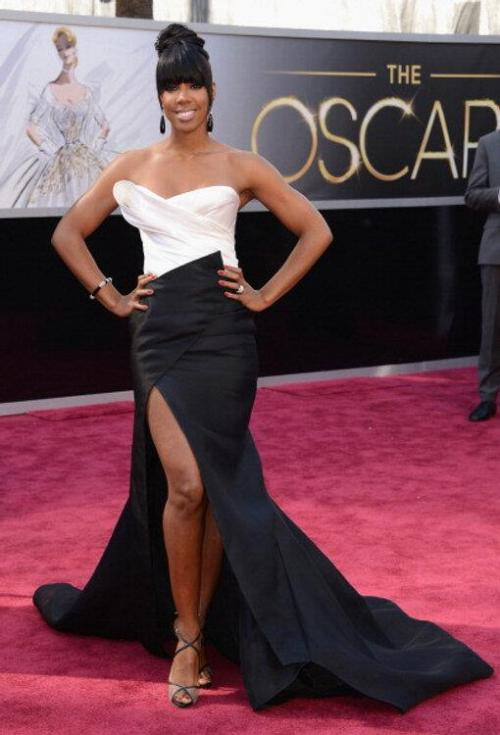 Kelly Rowland in Donna Karan Atelier at the 2013 Academy Awards!