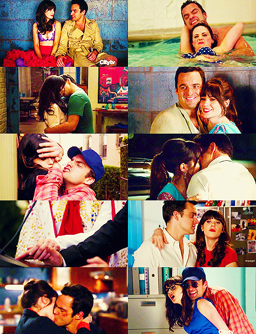 "tv meme: otps [2/5] ~ nick miller and jessica day; new girl        ""I like you a lot. I really do. I'm glad you're around."""
