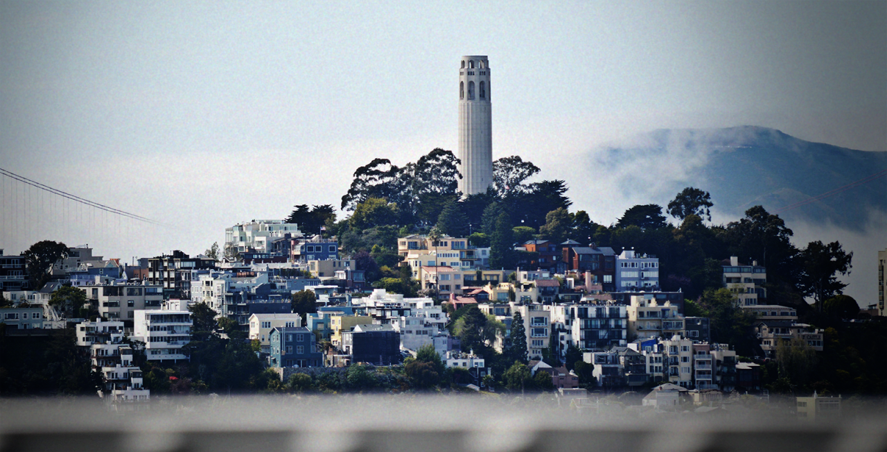 jasonfromcali:  Coit Tower - San Francisco, California Photo by me -  Edited by http://billyperry.tumblr.com/