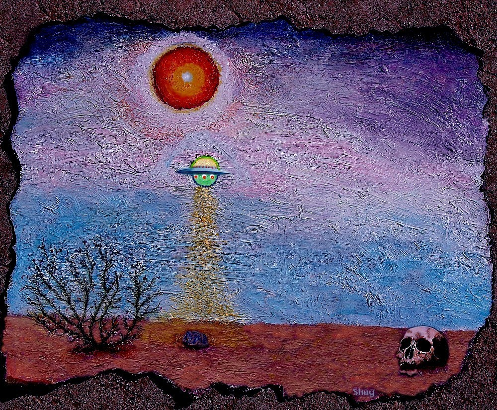 UFO (My Art, Oil Painting)